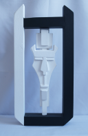 As a sculpture or can be wall mounted